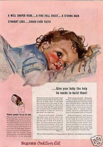 Green Pasture Asia - Squibb Ad 1930 - Give your baby the help it needs